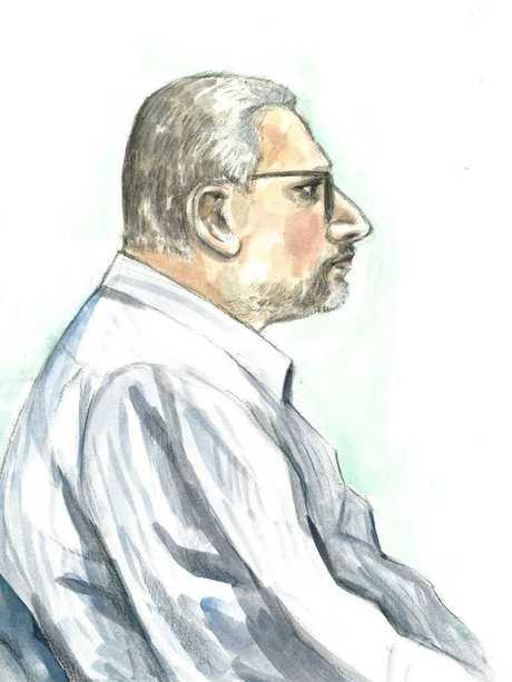 Courtroom sketch of Balwinder Singh Ghuman. ARTIST: Julie Haysom.