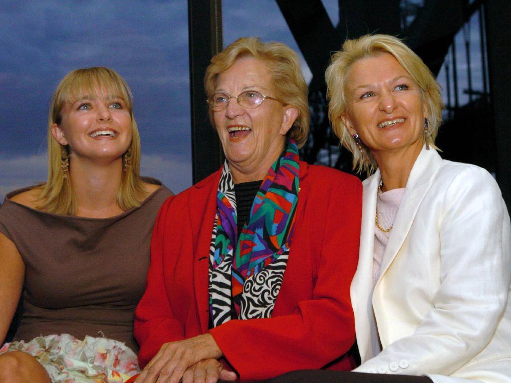 Hazel Hawke with daughter Sue Pieters-Hawke (right) granddaughter Sophie Pieters-Hawke.