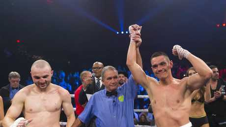 Despite Horn's criticisms, Tszyu was a convincing winner on Wednesday. Picture: AAP