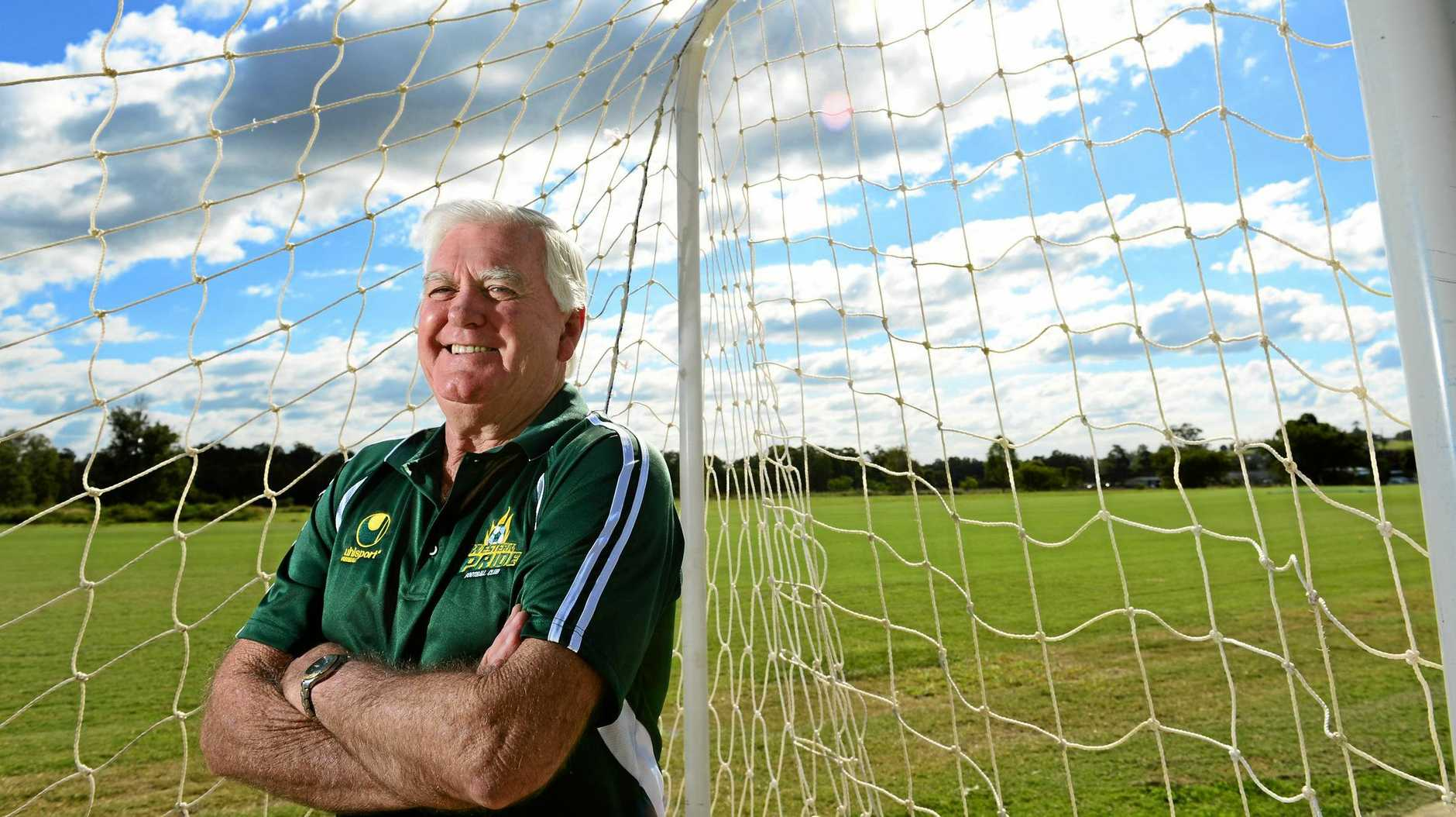 LOYAL SUPPORT: Western Pride patron Gary Wilkins is searching for experienced players to help the club  retain its spot in the NPL.