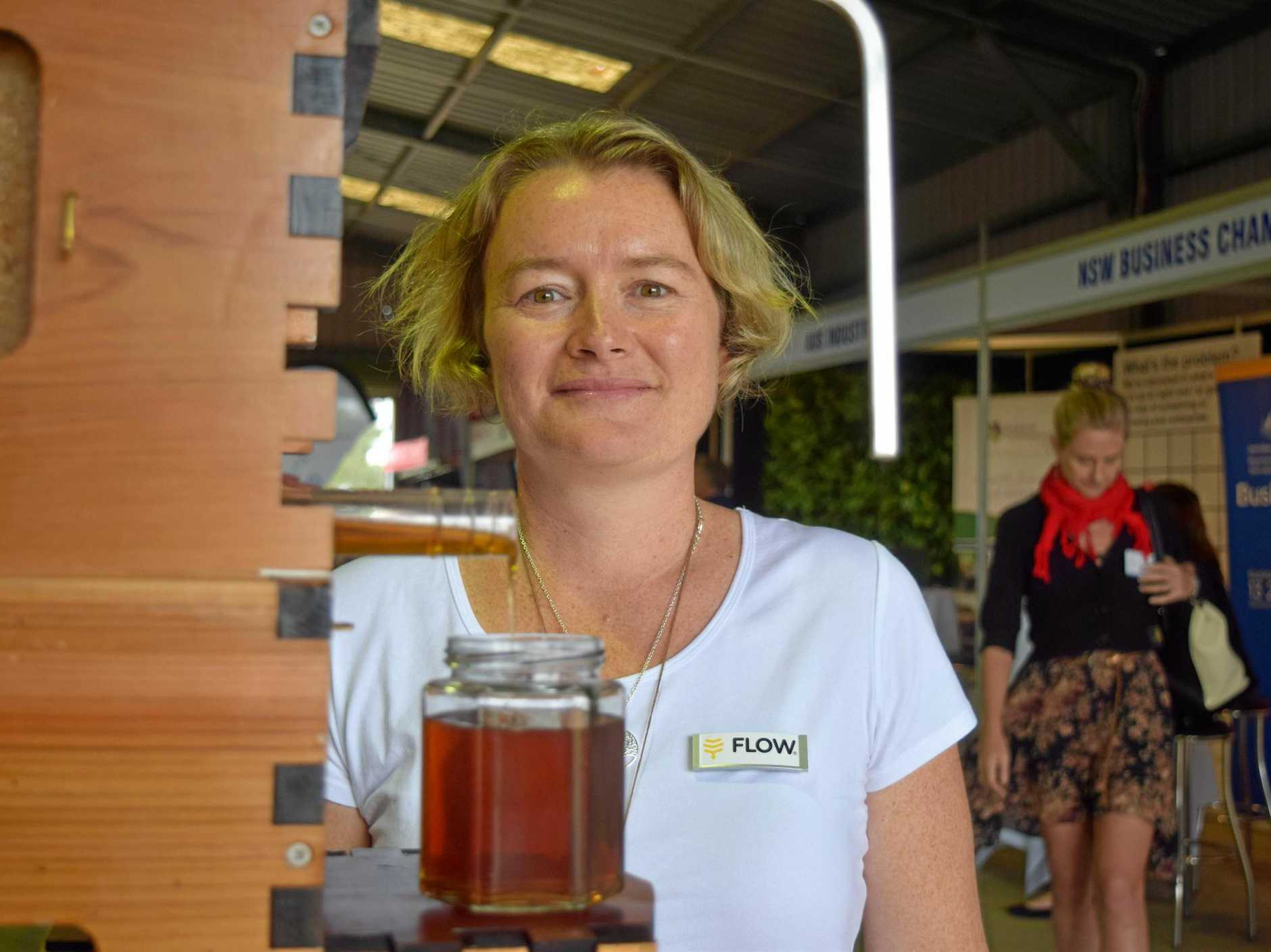 PRIMEX: Emily Grace from Flow Hive was showcasing the company's latest invention, the Flow Hive 2. Flow Hive won the Primex innovation scholarship and will attend the NZ Field Days next month.