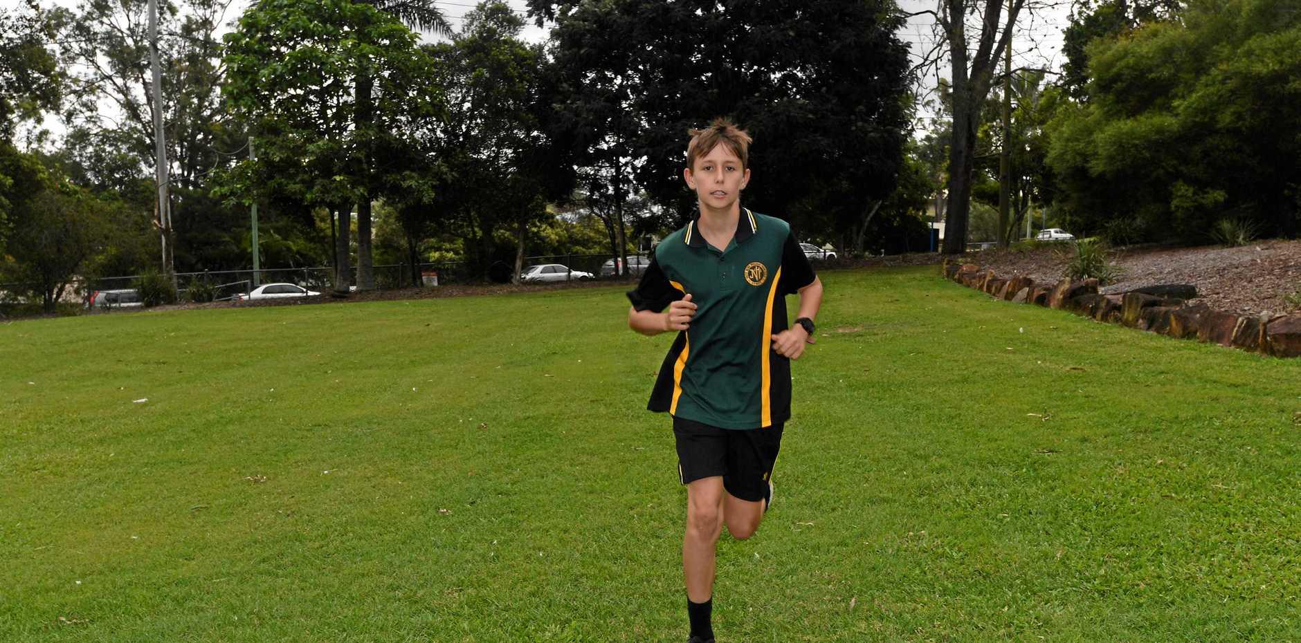 STAR STUDENT: James Nash State High School athletic telent David Olsson