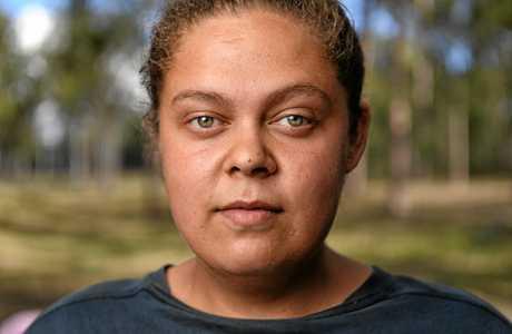 Lekina Thompson has spent over 80 days at the Deebing Creek Mission.
