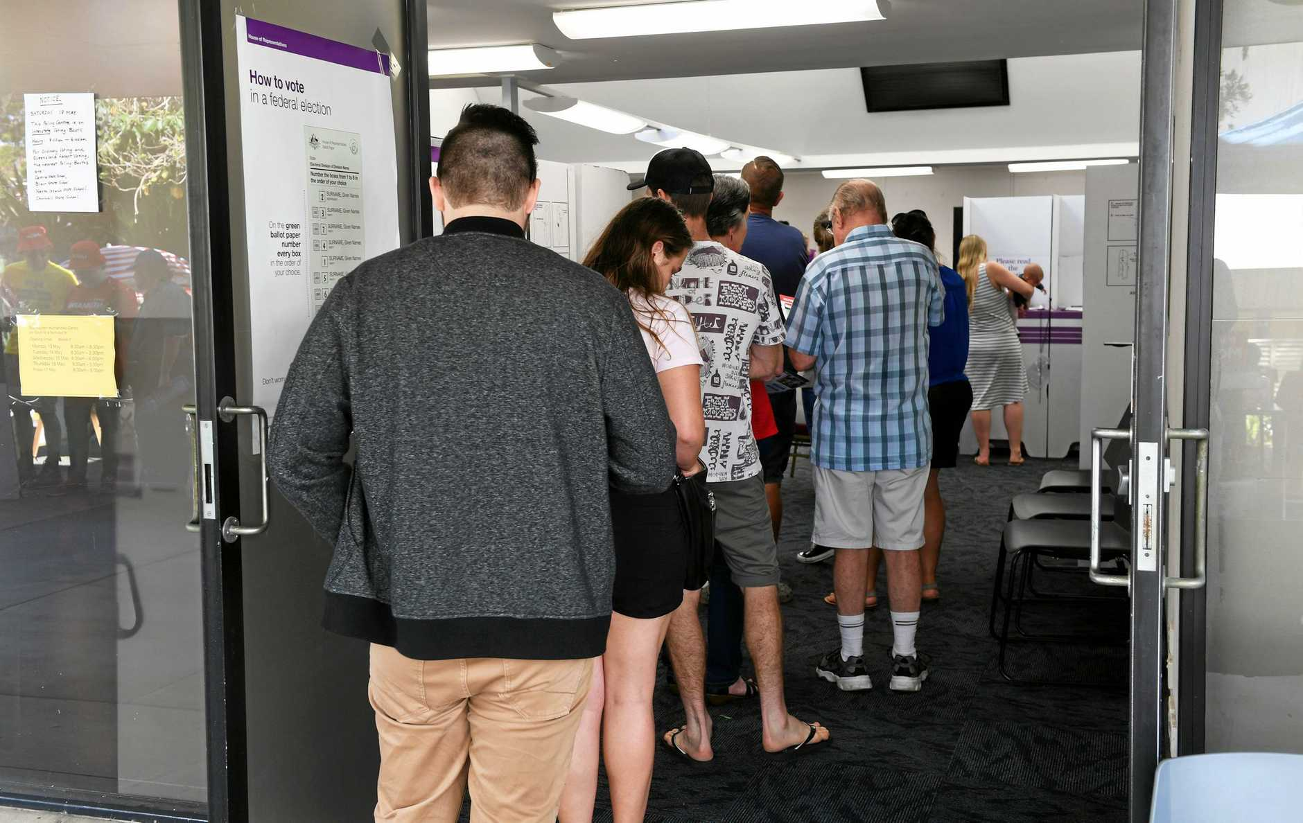 Pre-polling at the Humanties Centre in Ipswich on Thursday.