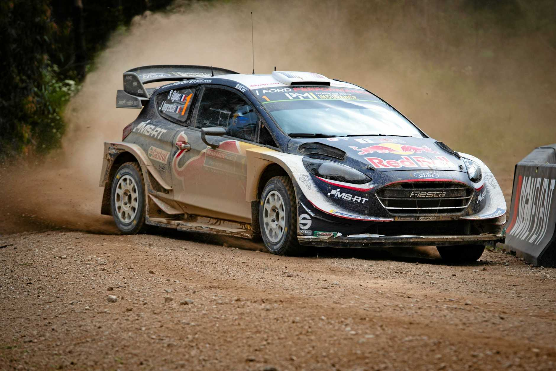 Sebastien Ogier in action on the final day of the WRC 2018 Kennards Hire Rally Australia.