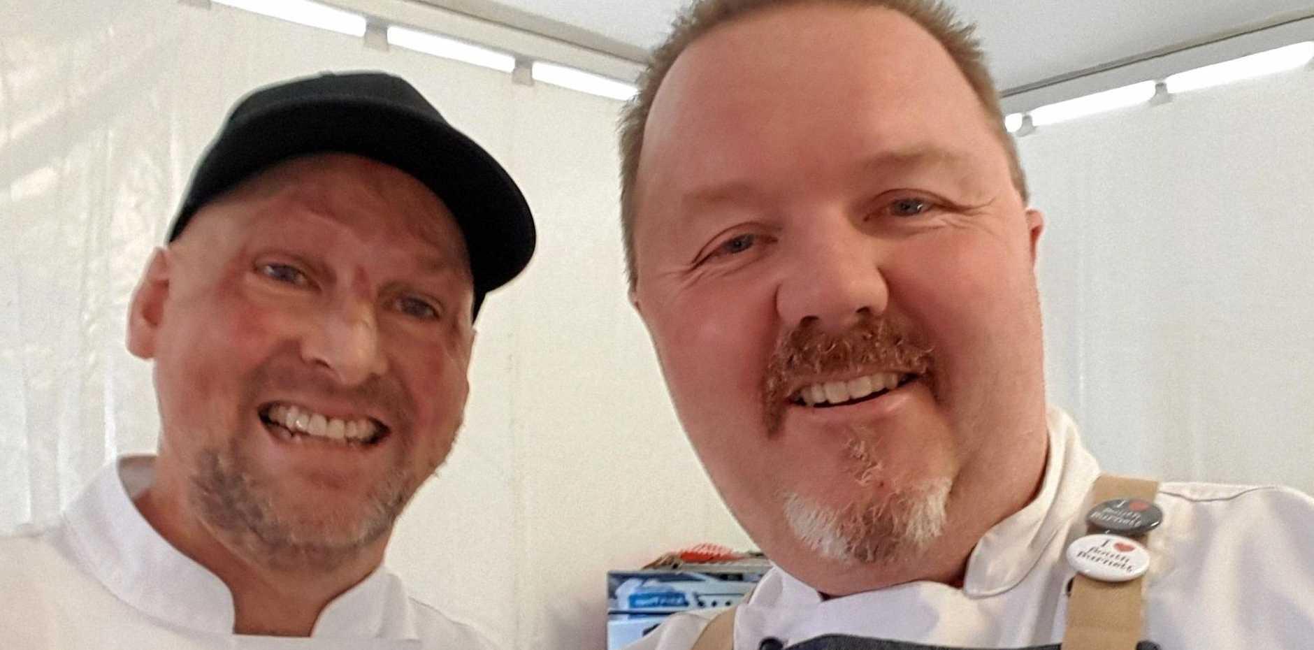 THE BEST: Gympie food ambassador Matt Golinski and South Burnett food ambassador Jason Ford will be holding cooking demonstrations at the Goomeri Pumpkin Festival.