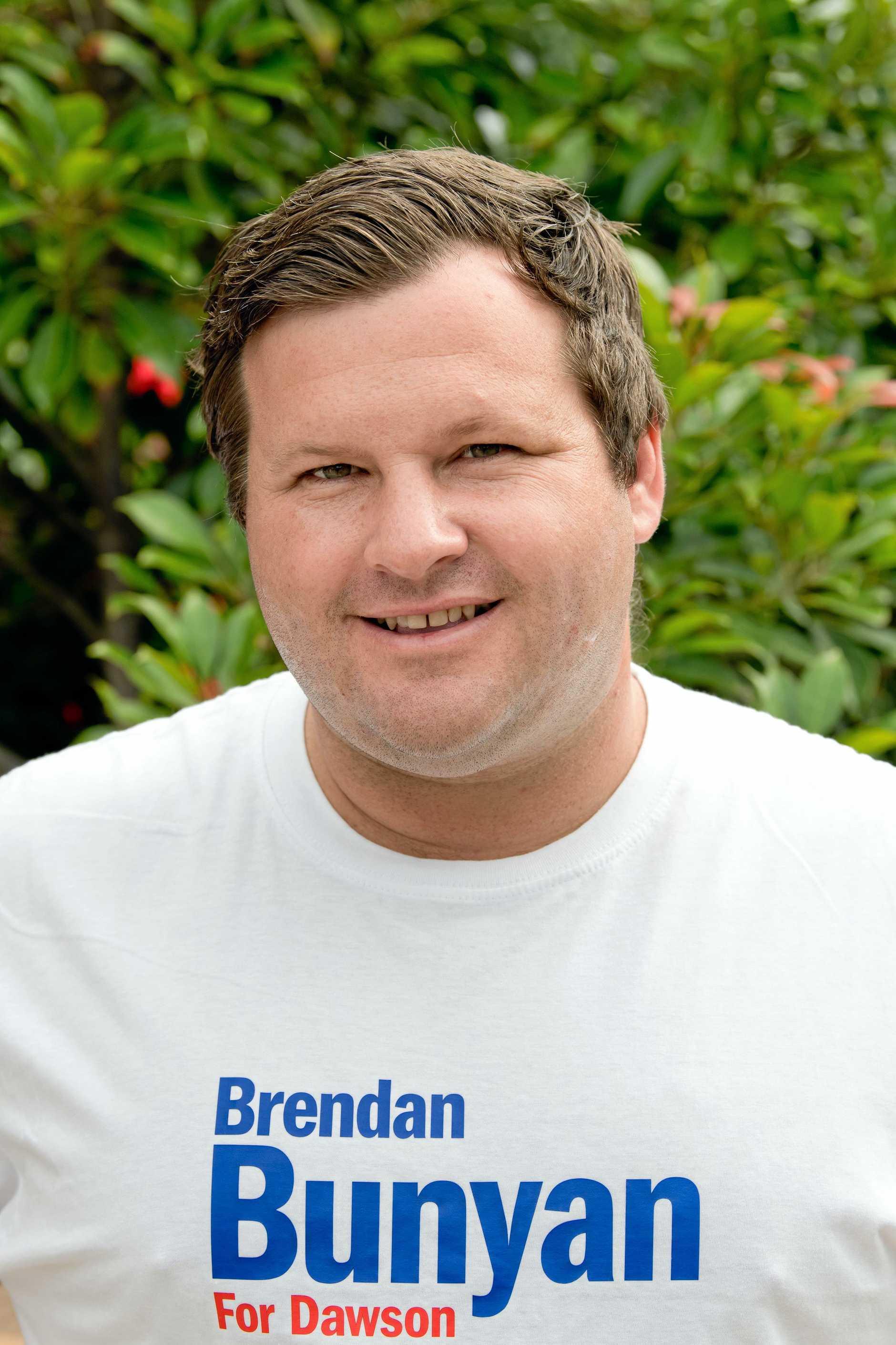 Dawson candidate Brendan Bunyan.
