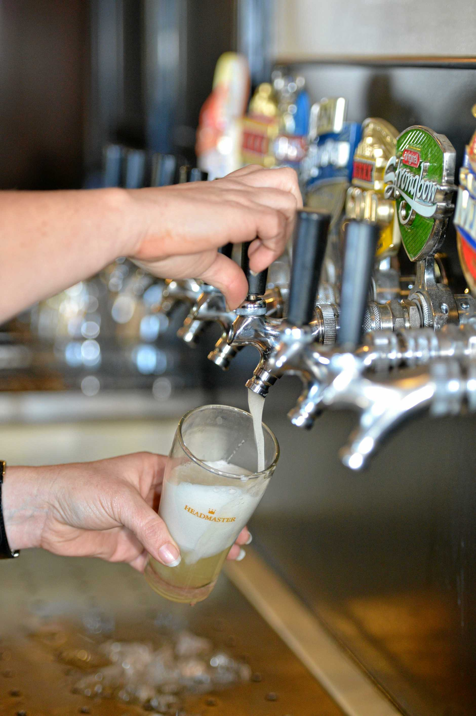 Beers on tap at Joe's Grand Hotel at Goomeri.    Photo Tanya Easterby / The Gympie Times