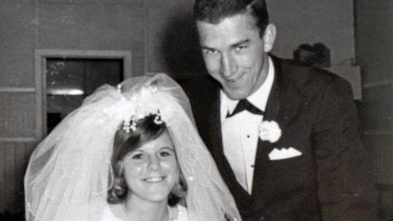 GOLDEN: Jean and Robert Ekert on their wedding day, May 17, 1969 in Newcastle.