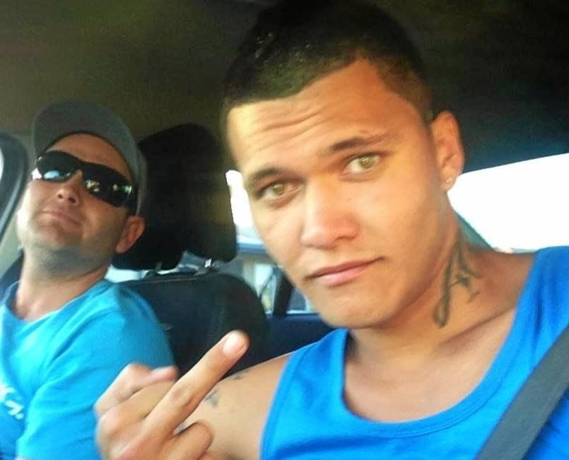 Tyson John Tahana (front) copped a blunt reality check when he faced court on multiple driving offences.