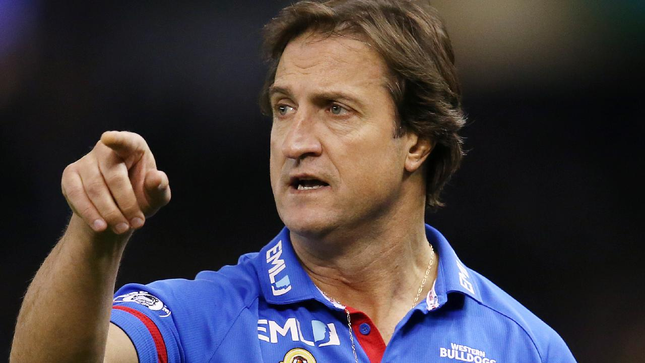 Western Bulldogs coach Luke Beveridge has fired some shots.