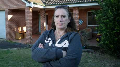 Rebecca Grace, 47, who lives in Ivan Milat's old house in Cinnabar St, Eagle Vale.