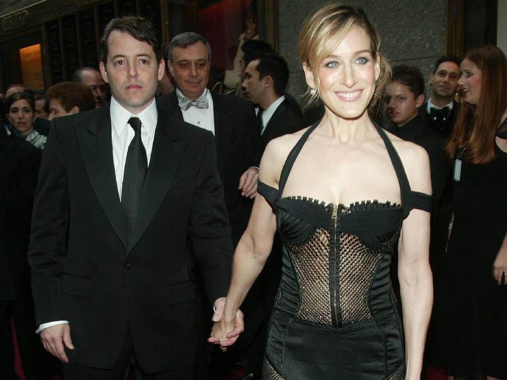 Matthew Broderick and wife actress Sarah Jessica Parker have spent over 20 years as a couple and she says they are happy. Picture: Evan Agostini/Getty Images