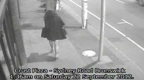 Jill Meagher (above) caught on CCTV in Brunswick before Bayley abducted and murdered her in 2012.