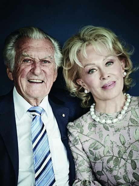 Bob Hawke and Blanche d'Alpuget. Picture: Harold David