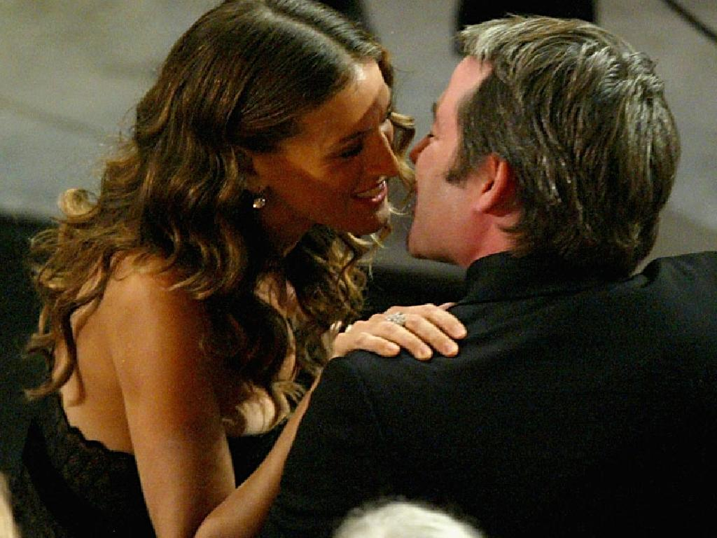 Sarah Jessica Parker kisses her husband, actor Matthew Broderick, during the 56th Annual Primetime Emmy Awards in 2004 in Los Angeles. Picture: Vince Bucci/Getty Images