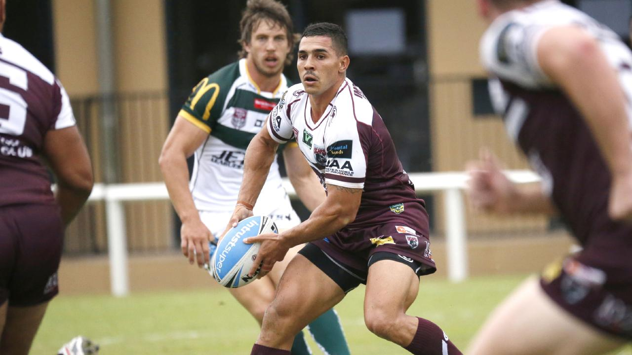Jamal Fogarty in action for Burleigh at Intrust Super Cup level against Ipswich. Picture: SMP Images