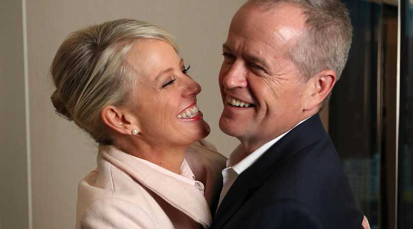 Bill Shorten and wife Chloe have spent all of the campaign together, beginning and ending each day alongside each other. Picture: Liam Kidston