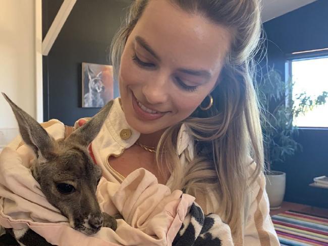 Margot Robbie visits the Kangaroo Sanctuary in the Northern Territory,