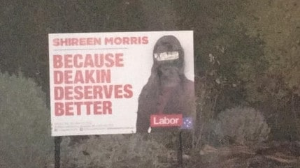 Racist vandalism and outright fake AEC signs have tainted several campaigns.
