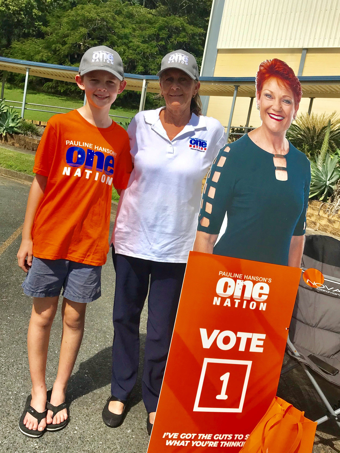 Rory McPhail with One Nation candidate for Dawson Debra Lawson. Rory recently met Pauline Hanson and she promised to fly him to Canberra for her swearing in ceremony if she is successful at securing her senate seat.