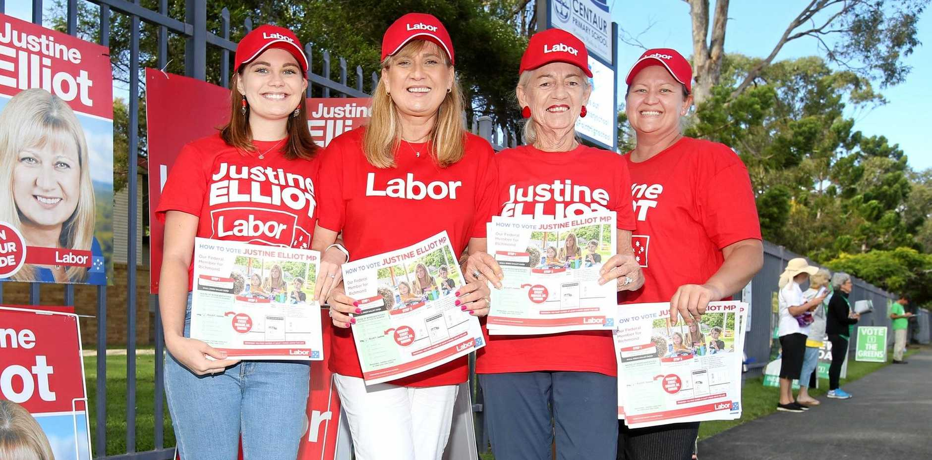 Federal Member for Richmond Justine Elliot (second from left) says Anthony Albanese should be the next leader of the Labor Party.