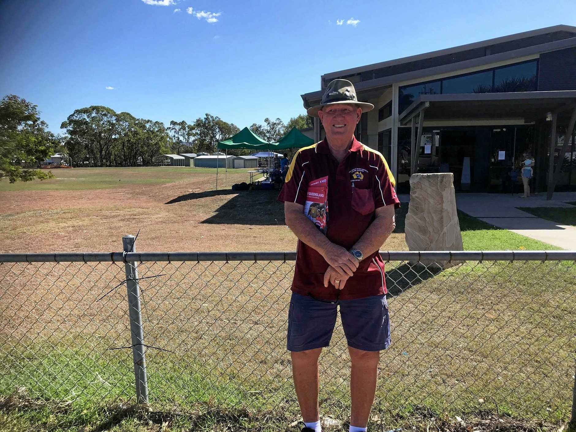 John Buchanan, pictured here at Warraburra State School, says he wants to see Gracemere become part of Capricornia.