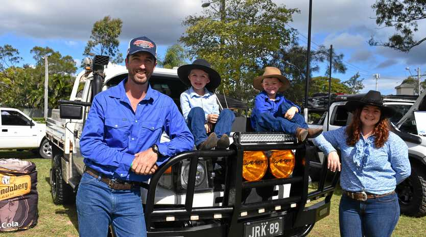 The Kohler family entered their work Toyota Landcruiser in the work ute section. Pictured are from left Josh, Clint, Wyatt and Aleisha Kohler.