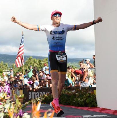 Coffs Harbour's  Clint Rowlings  finishing last year's Kailua-Kona, Hawaii. World Championships after nine hours of sheer pain.