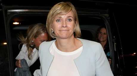Zali Steggall joins supporters at the Novotel Sydney Manly Pacific. Picture: Lisa Maree Williams