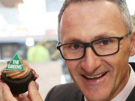 Greens leader Richard Di Natale. His party and the other minor parties now hold a 25 per cent slice of the popular vote. Picture: AAP