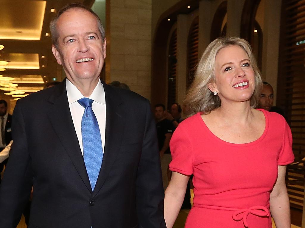 Opposition Leader Bill Shorten and wife Chloe will be calling Canberra home after the election, according to the final Newspoll of the campaign. Picture: Kym Smith