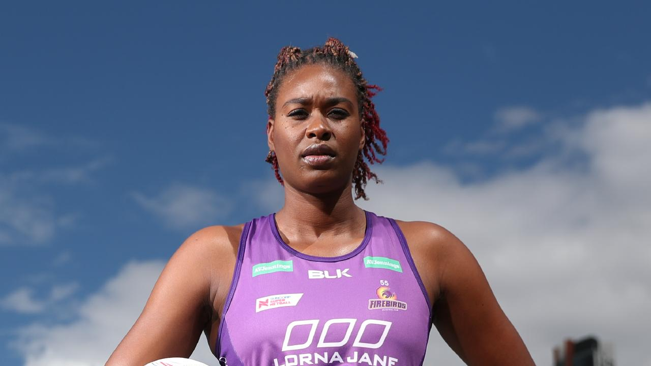 Romelda Aiken is aiming to lift the Firebirds. Pic Peter Wallis