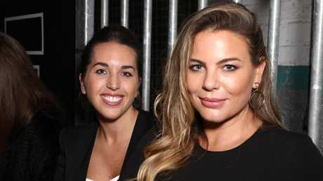 Fiona Falkiner (right) with her fiancee, Hayley Willis.