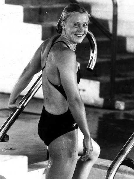 Australian swimmer Lisa Curry in 1980.