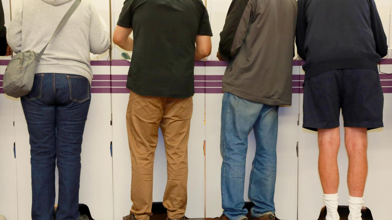 Voters at Northmead Public School have their say. Picture: AAP Image/Angelo Velardo