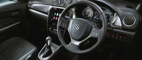No frills: Utilitarian cockpit's touchscreen has smartphone mirroring, satnav and rear camera