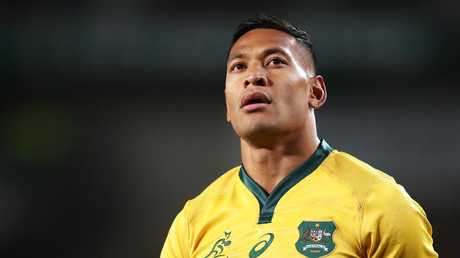 Israel Folau was the latest star to be embroiled in controversy after posting material deemed vilification against the gay community. Picture: Matt King/Getty Images