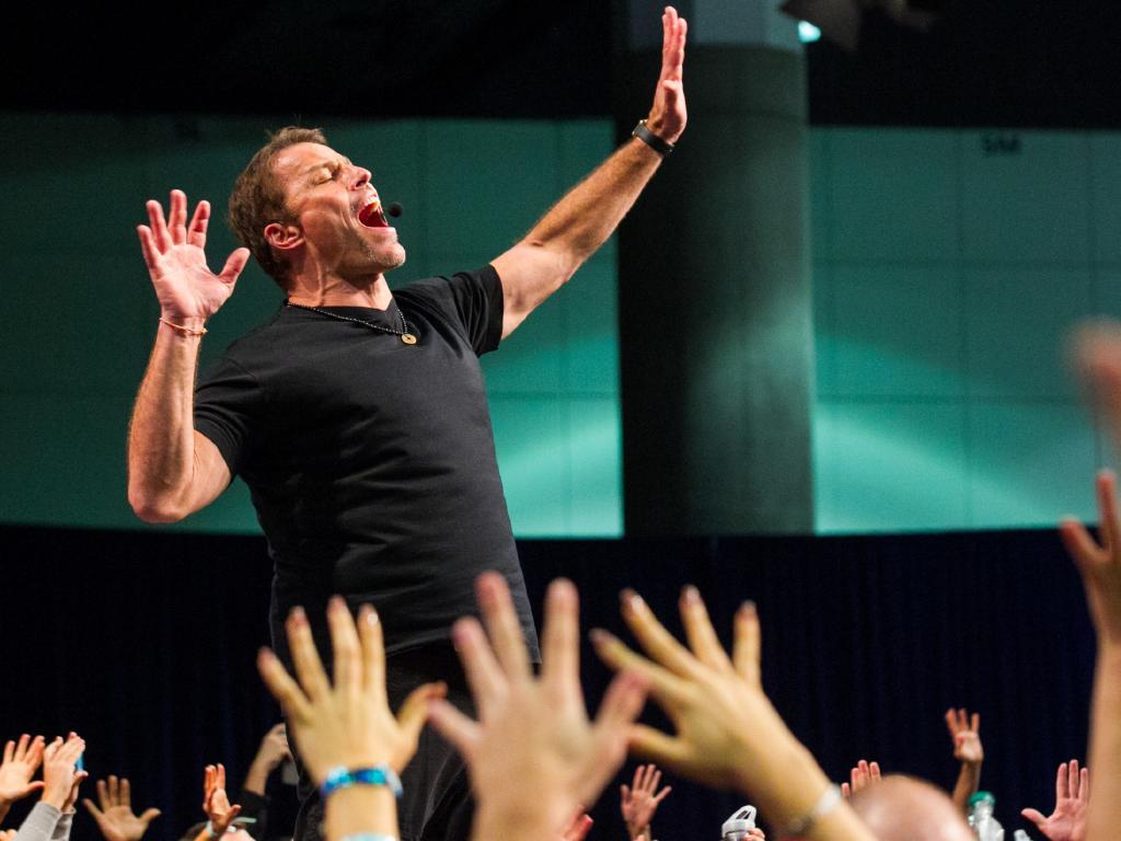 Tony Robbins draws big crowds. Picture: Supplied