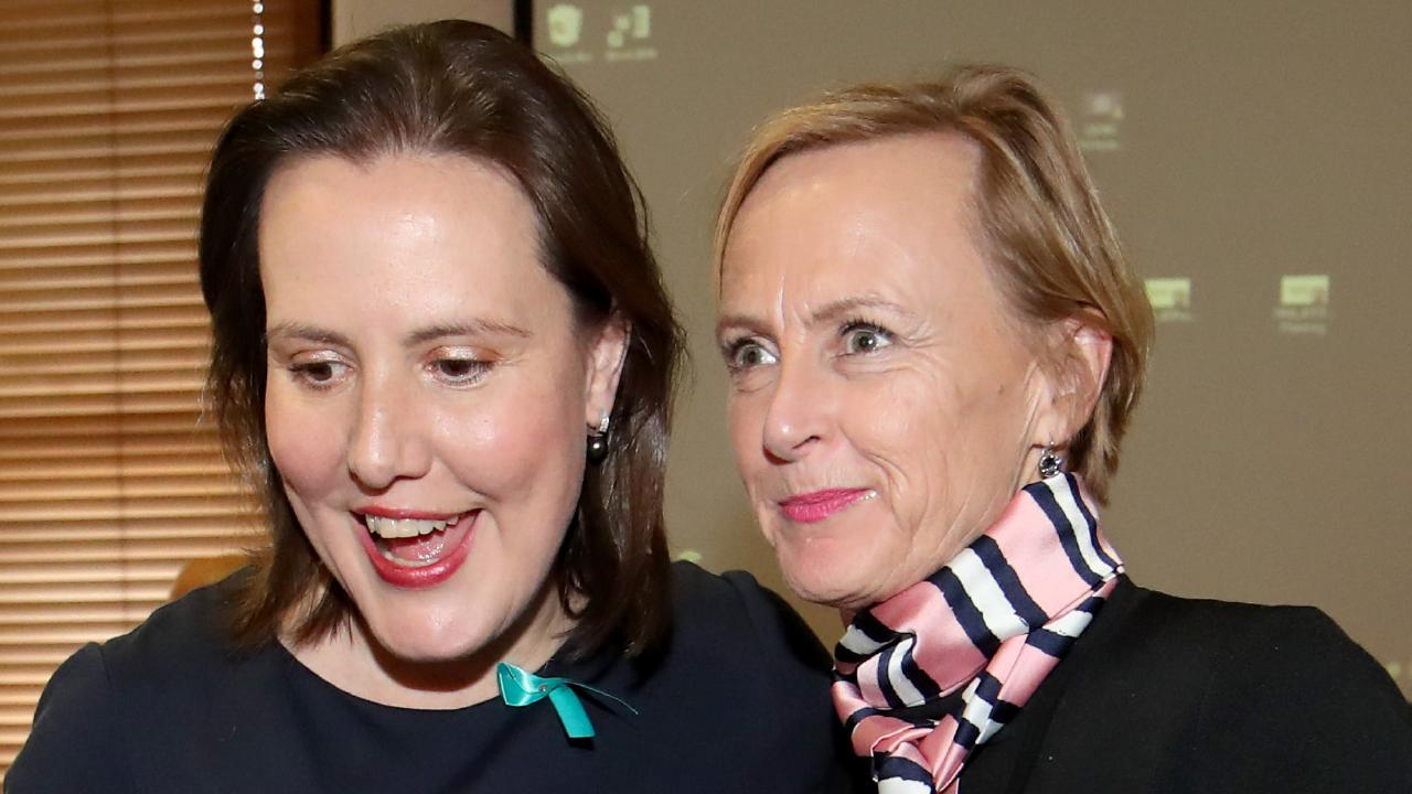 Kelly O'Dwyer has thrown her support behind her replacement, Higgins' candidate Katie Allen. Picture: David Geraghty/The Australian