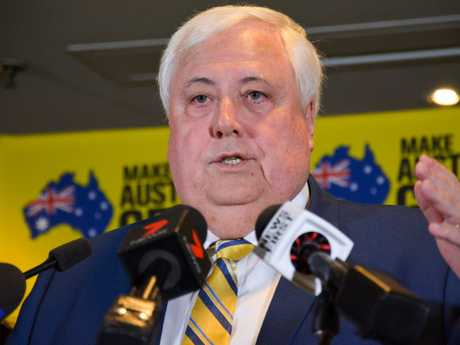 United Australia Party leader Clive Palmer. Rebecca Le May/AAP