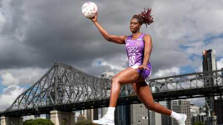 Queensland Firebirds star Romelda Aiken. Pic Peter Wallis