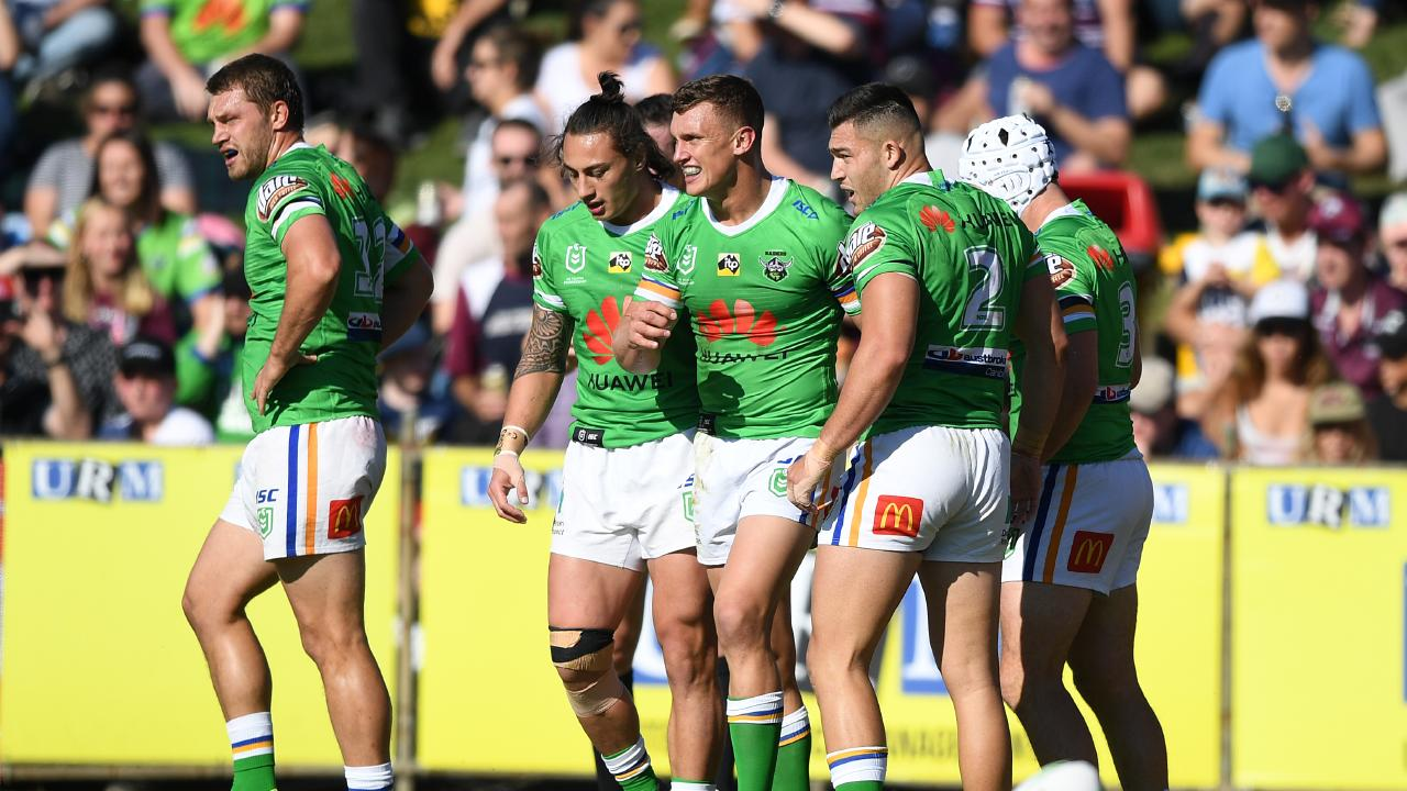 Leilua suffered the injury in Canberra's loss to Manly. (AAP Image/Joel Carrett)