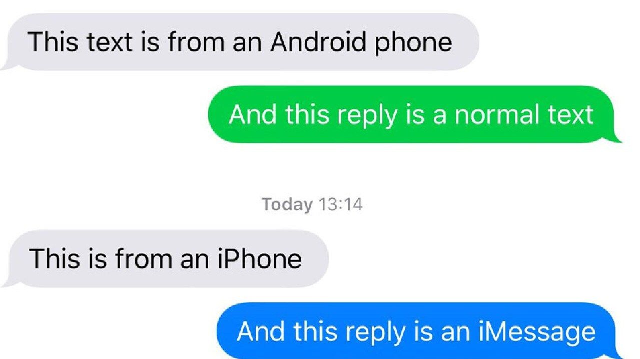 Apple versus Android.