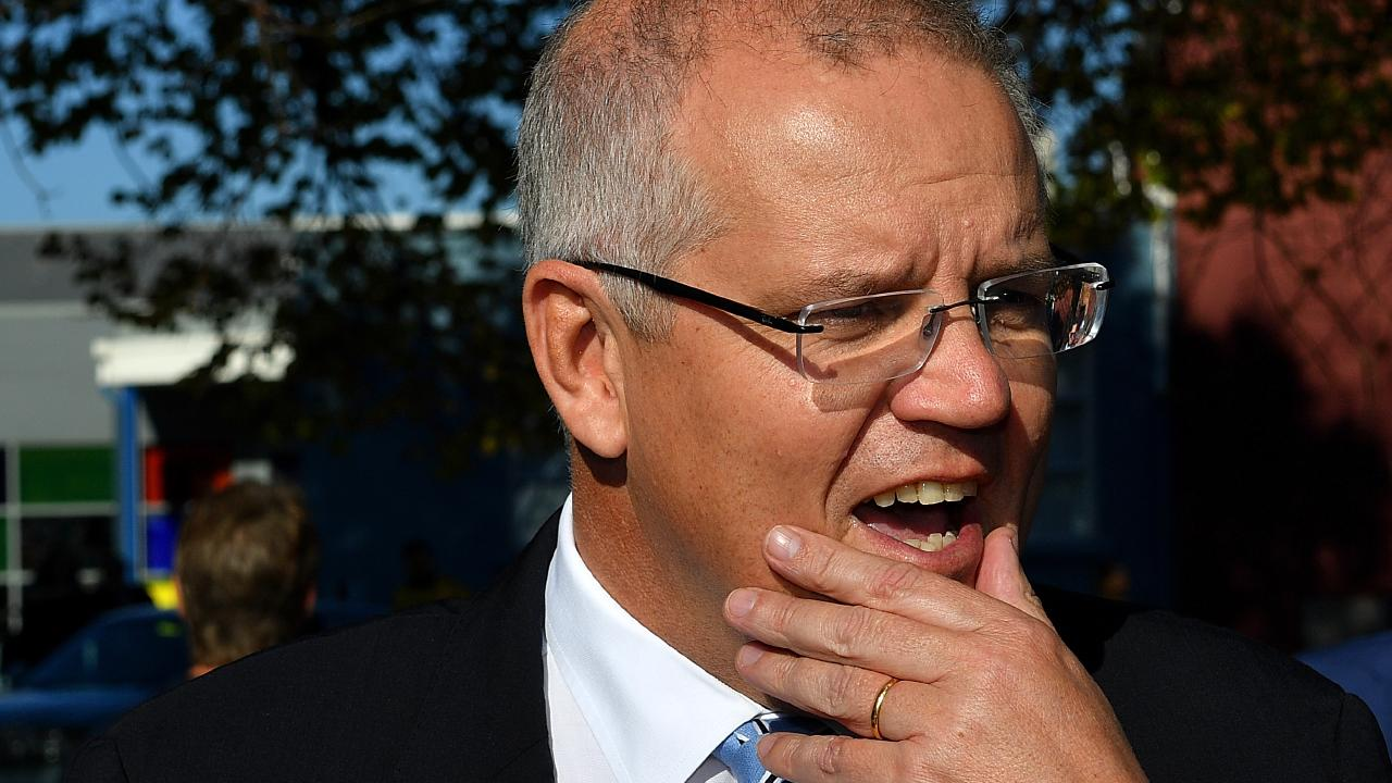 Scott Morrison began his day in Tasmania. Picture: AAP