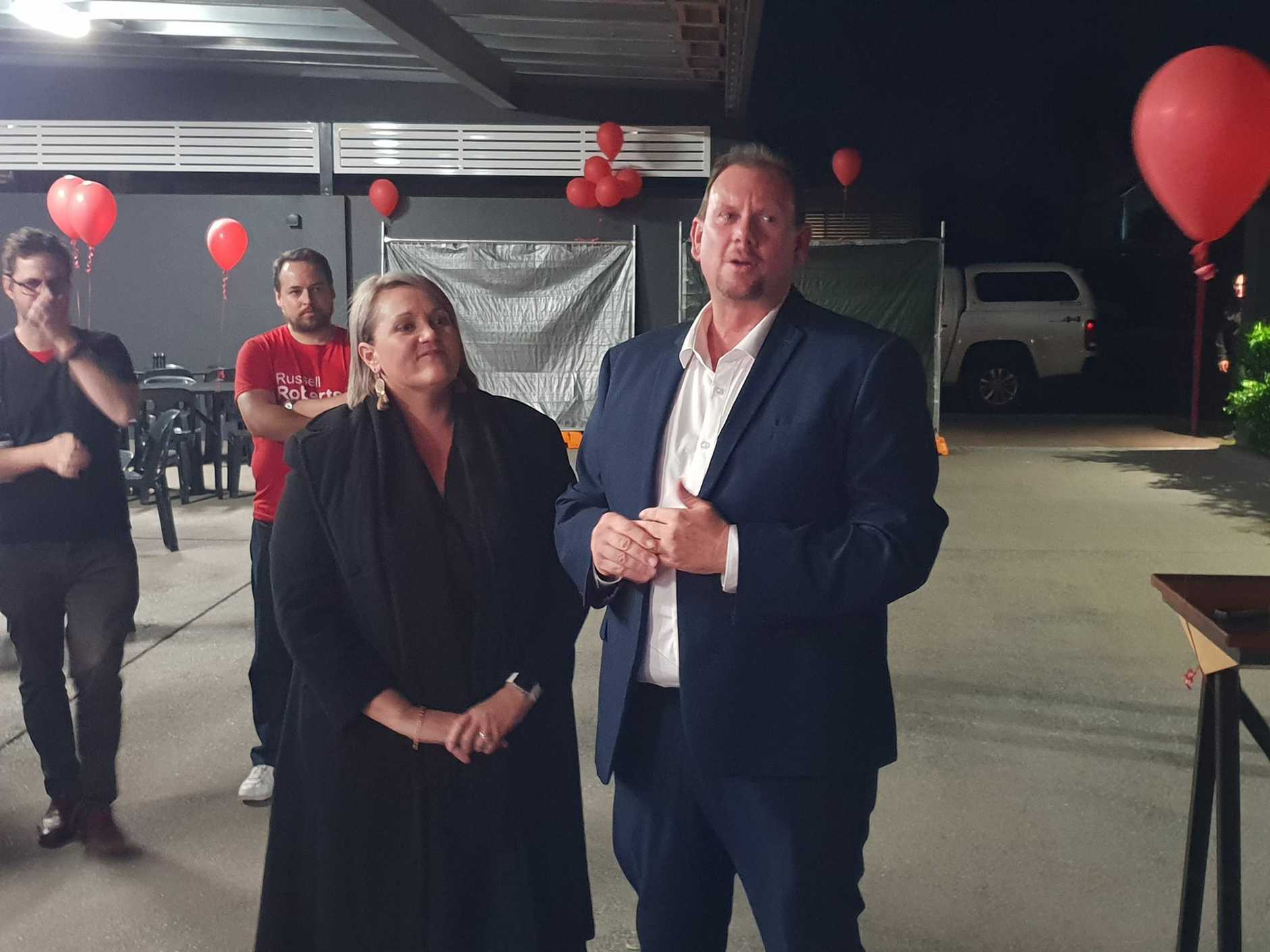 While he has not yet conceded, ALP candidate Russell Robertson has congratulated his biggest rival in the Federal election campaign, LNP's Michelle Landry.