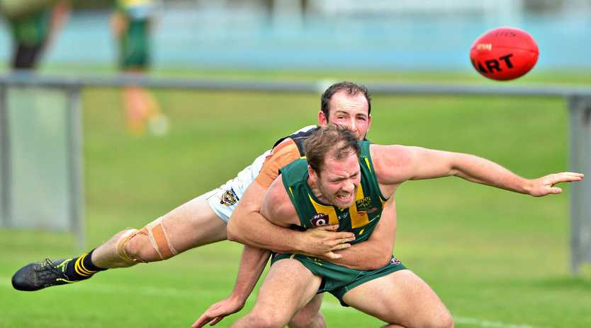 IN ACTION: Maroochydore's Tyle Williams against Mayne.