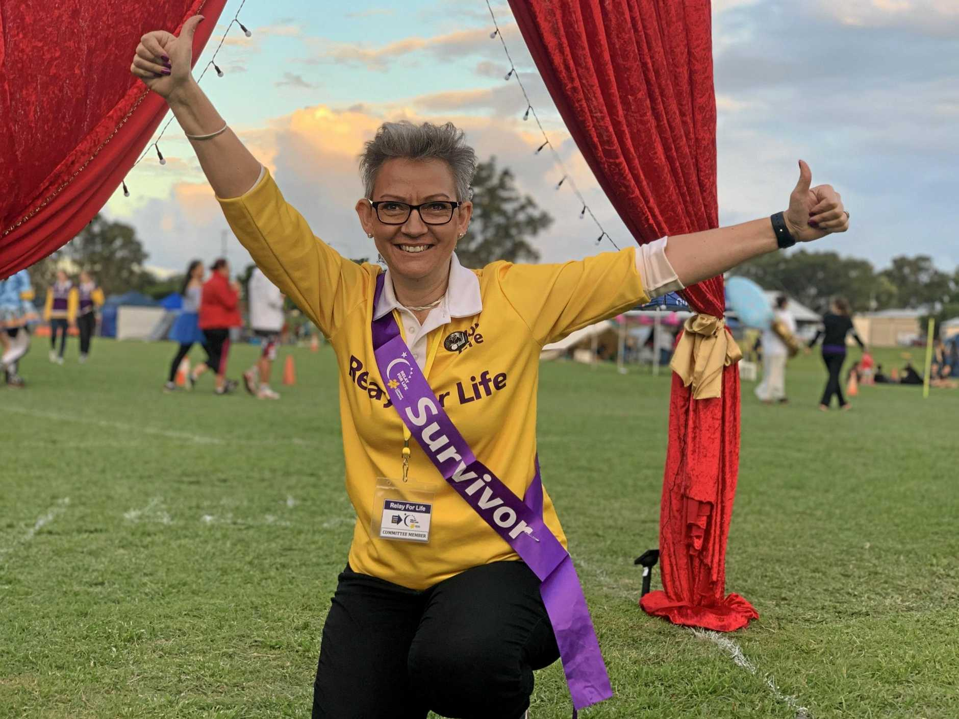SURVIVOR: Annelize Van Niekerk fought breast cancer and is now helping others through their journeys with cancer at Relay for Life event across the region.