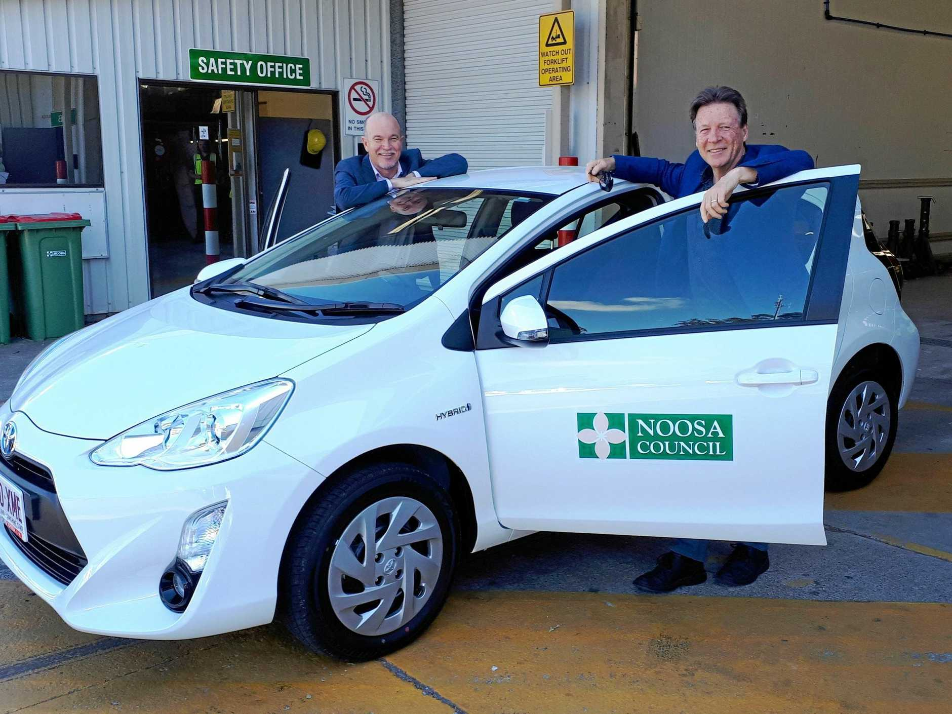 IN GOOD SHAPE: Noosa Mayor Tony Wellington (right) and Noosa Council CEO Brett de Chastel (left).