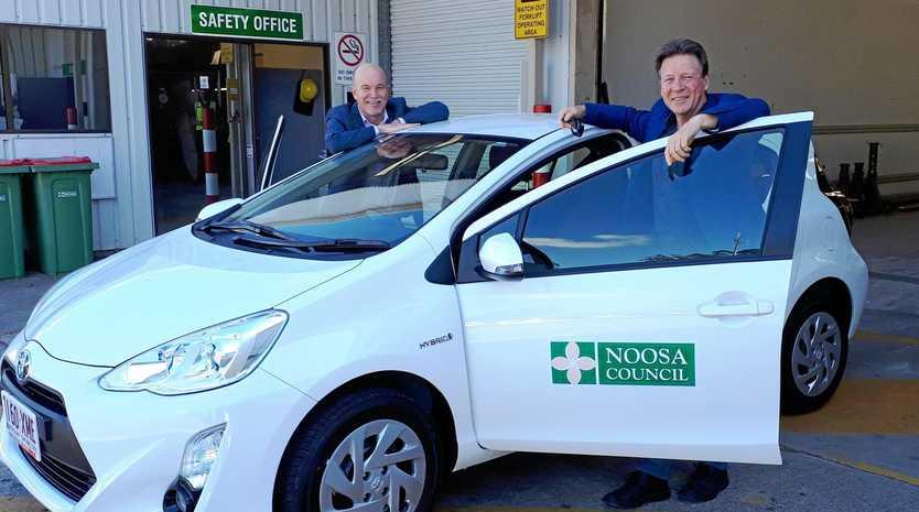 IN GOOD SHAPE: Noosa Mayor Tony Wellington (right) and Noosa Council CEO Brett de Chastel (left).